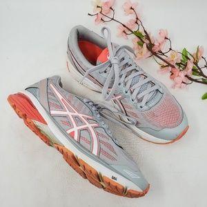 Womens ASICS GT 1000 Gray Orange Running Shoes 10